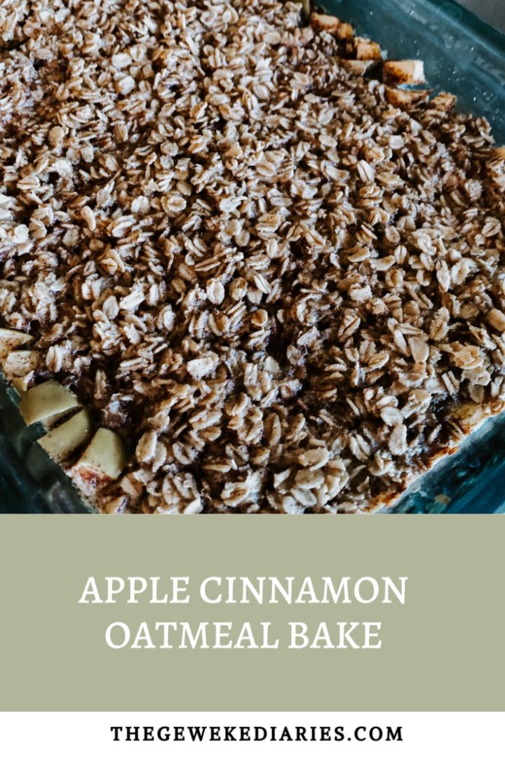 Apple Cinnamon OatmealBake